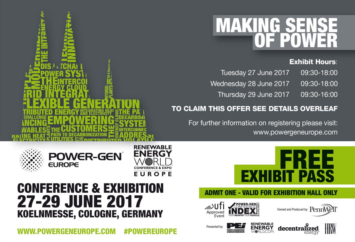 POWER GEN EUROPE Colonia, 27-29 giugno