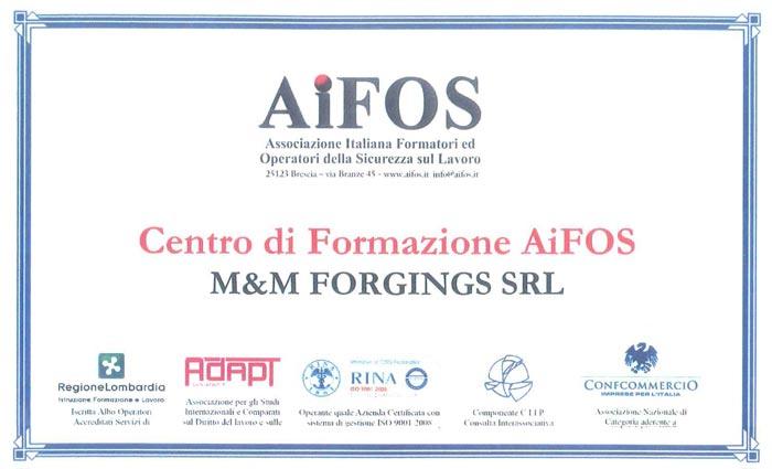 M&M Forgings is an AiFOS Training Center